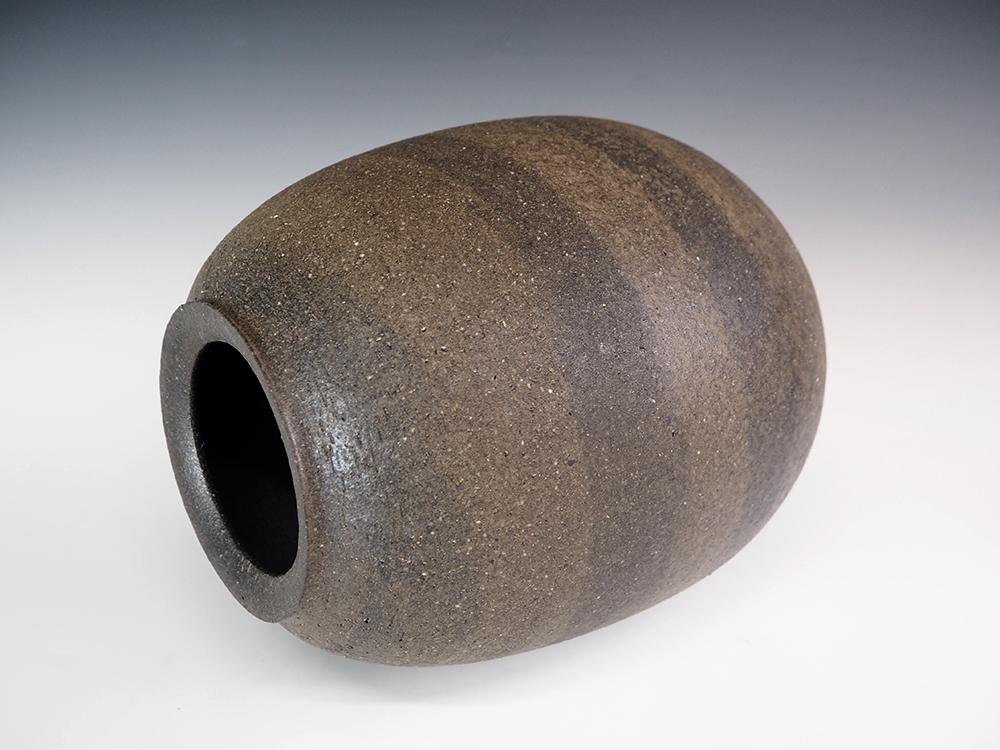 ONODERA Gen Suzu style Marbled clay Jar4.jpg
