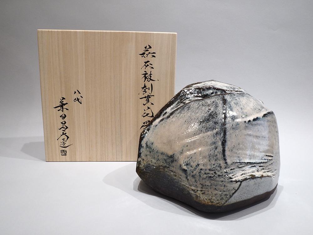 KANETA Masanao Hagi Ash glazed Vase 7.jpg
