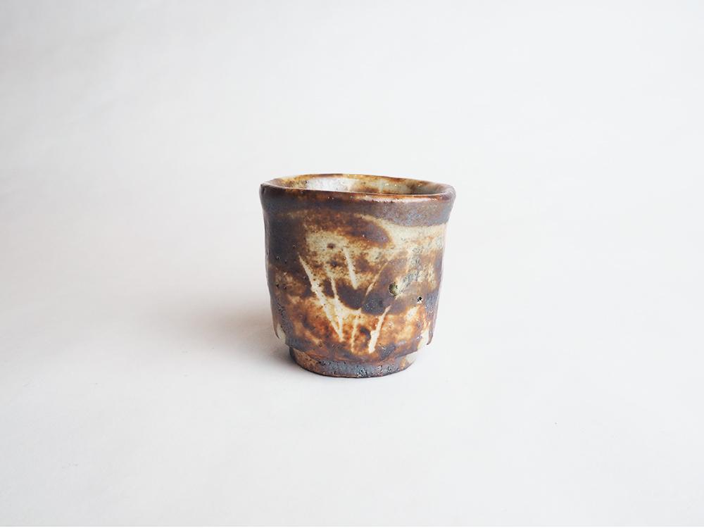 HIGUCHI Masayuki   Gray Shino Sake Cup