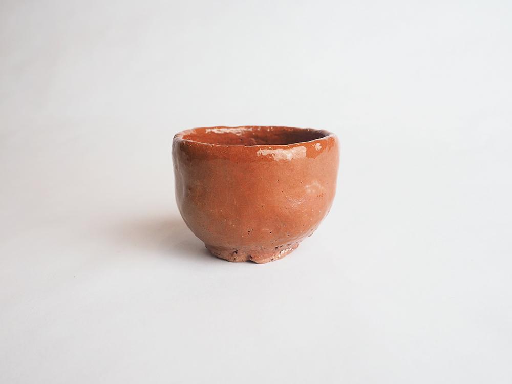 TSUDA Tomoko | Red Raku Sake Cup