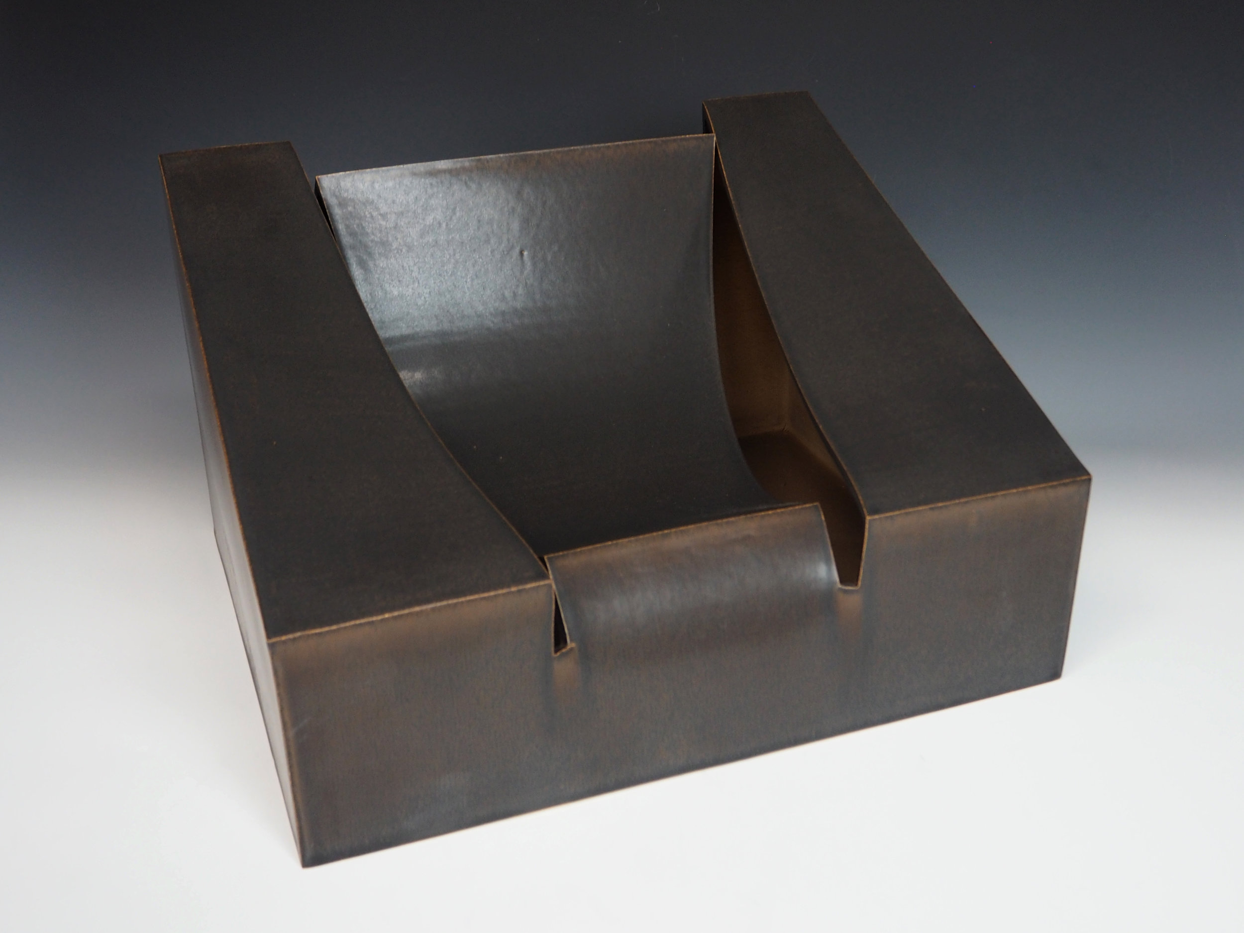 KIYOMIZU Rokubei VIII | Iron-glazed Pottery Sculpture