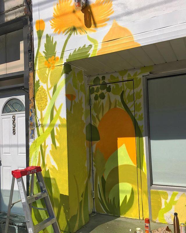 A forest has begun... . . #mural #spraypaint #art #nature #toronto #forest