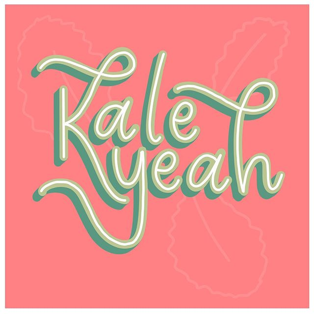 I've been eating so much kale lately... you might say that I was inspired 🥬 • • • • • #procreateartist #procreatedesign #ipadlettering #letteringcommunity #letteringco #letteringartist #letteringleague #letteringdaily #goodtype #typematters #typegang #womenofillustration #typetopia #strengthinletters #thedailytype #customhandlettering #motivationnation #letteringchallenge #letteringleague #calligrafriends #typism #letterbuilder #drunkonlettering #createdtoday #showusyourtype #typeeverything #handdrawntype #communityovercompetition #typematters @showusyourtype @50wordsonlettering @letteringleague