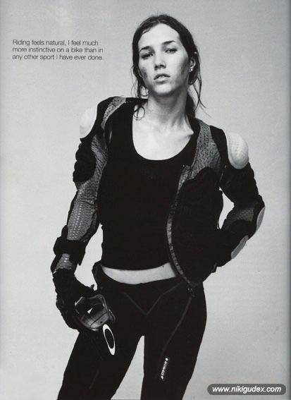 Niki Gudex photographed by Richard Bailey.
