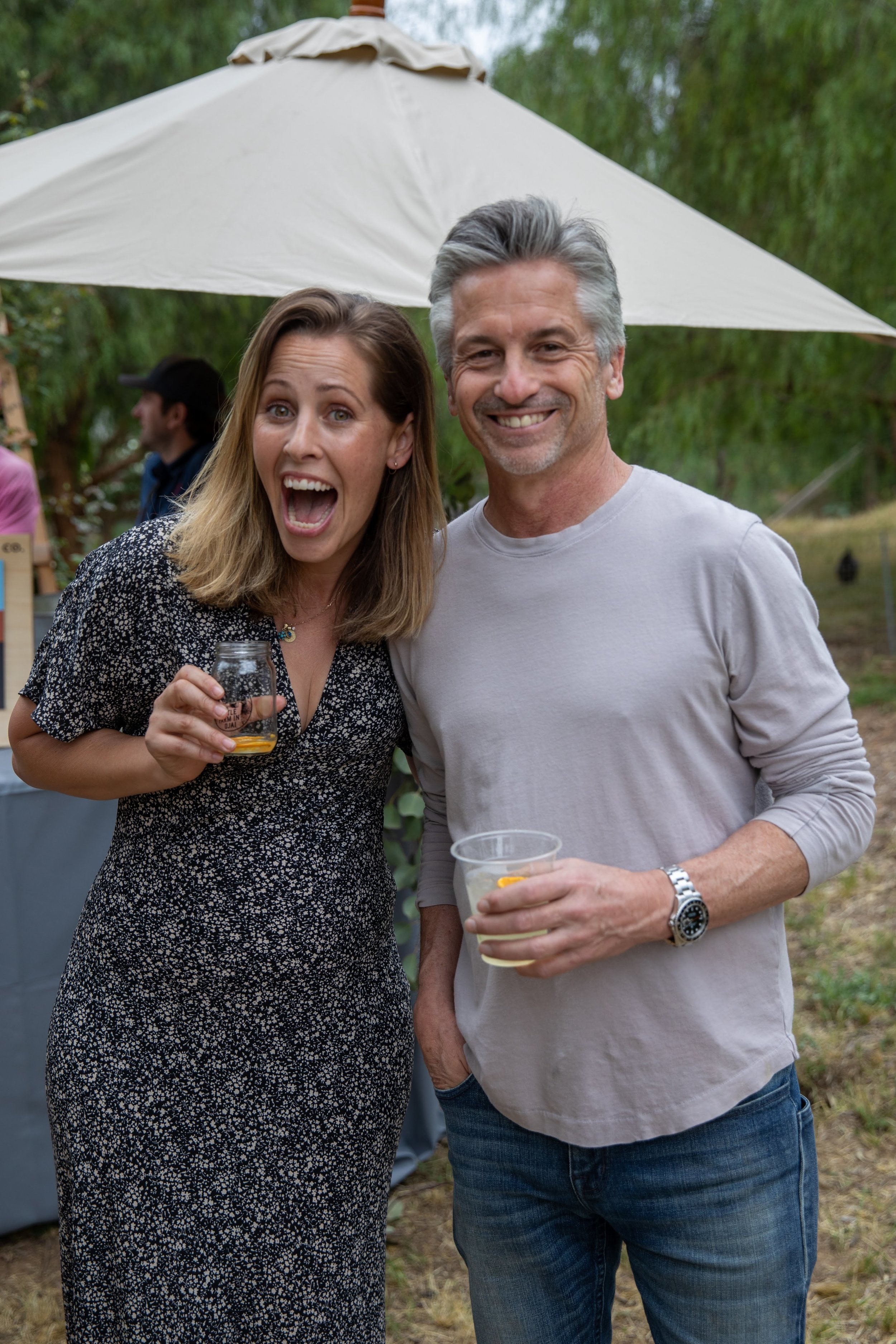 Our very excited founder Katie found Steve Giannetti during the party to take a moment and enjoy a cocktail from our friends at Ventura Spirits.