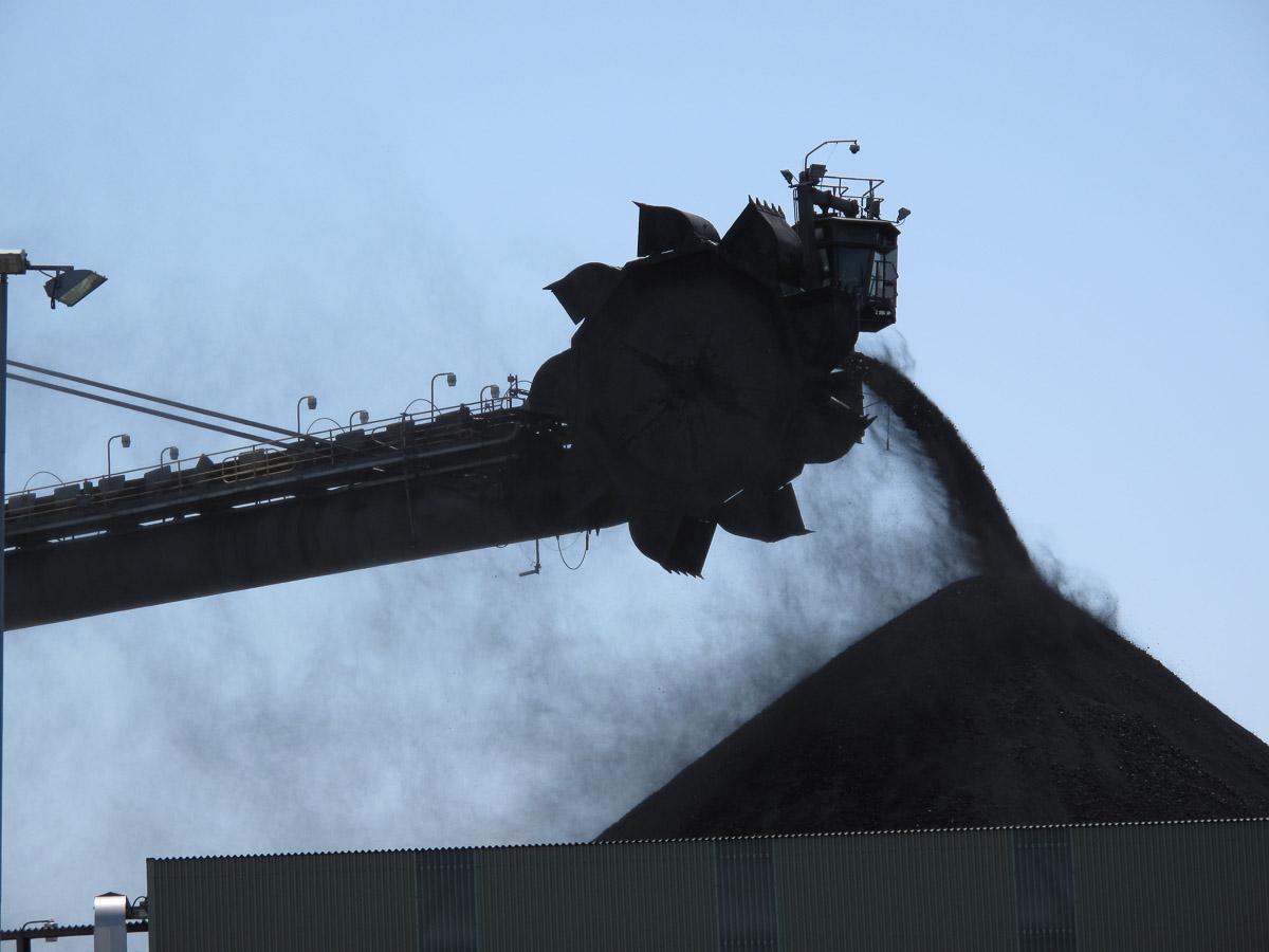 Stacking Coal.