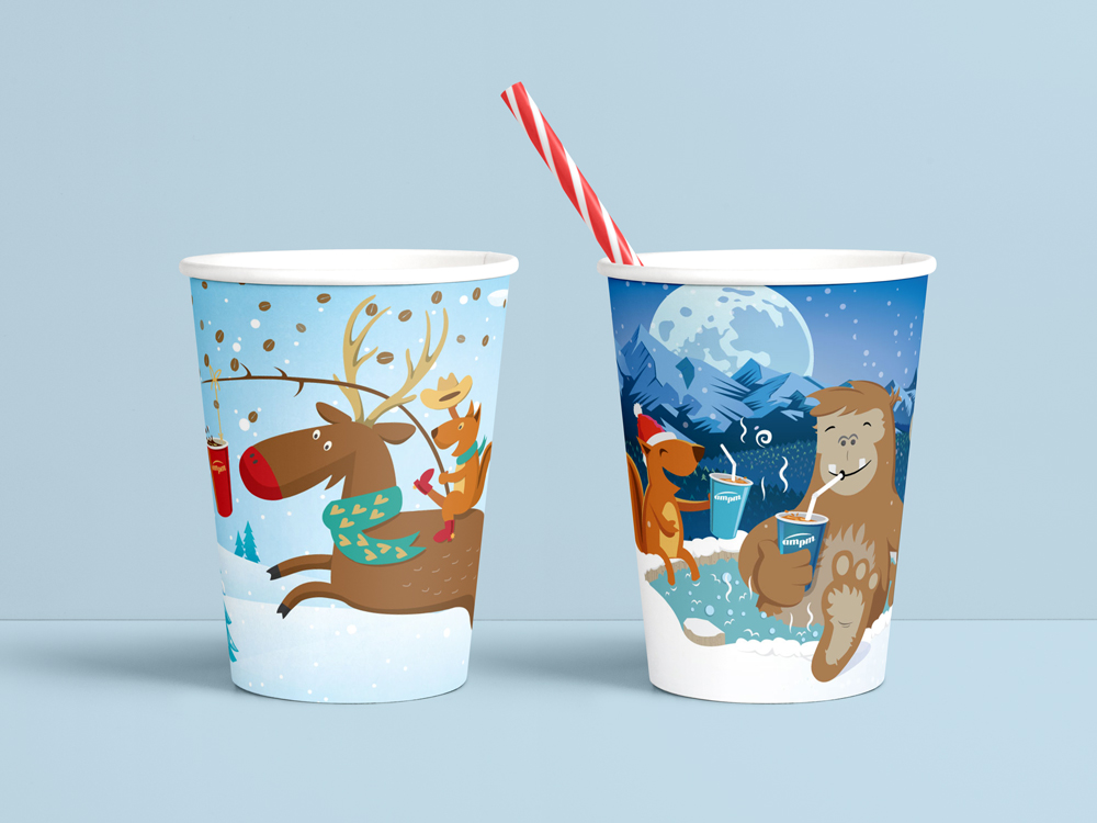 AMPM Coffee and Soda cups