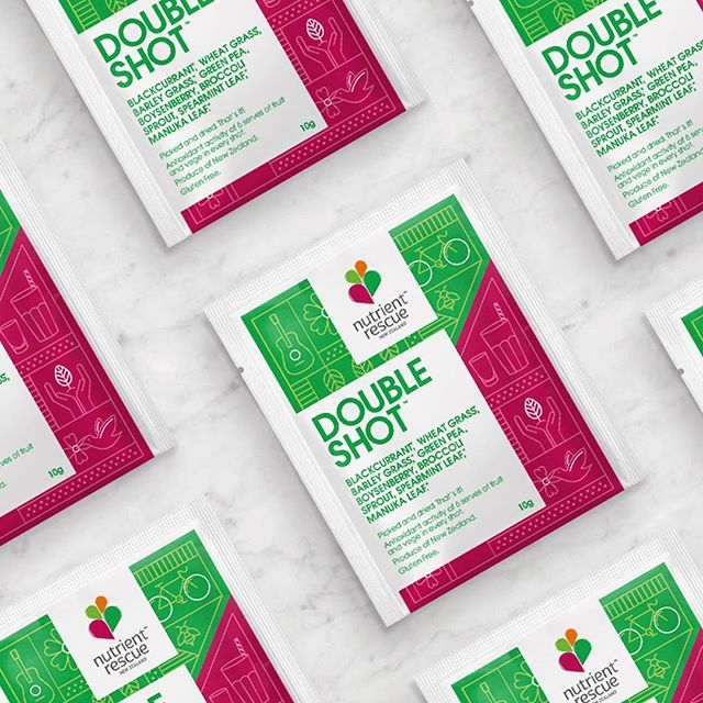 Double Shot packaging designed for @nutrientrescue  I love working with this team 🥰