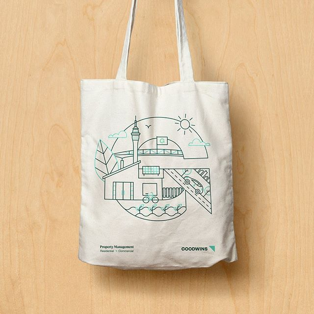 Tote bag design for Goodwins Property Management 🏠