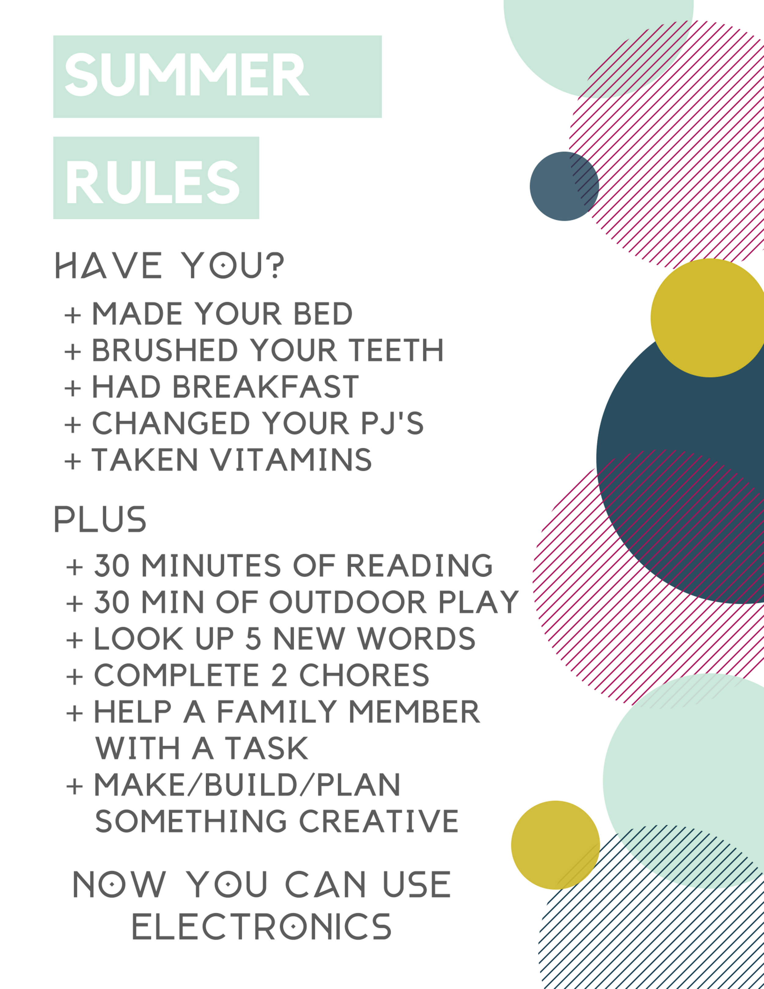 FREEBIE- SUMMER RULES AND CHORE PRINTABLE SET.png