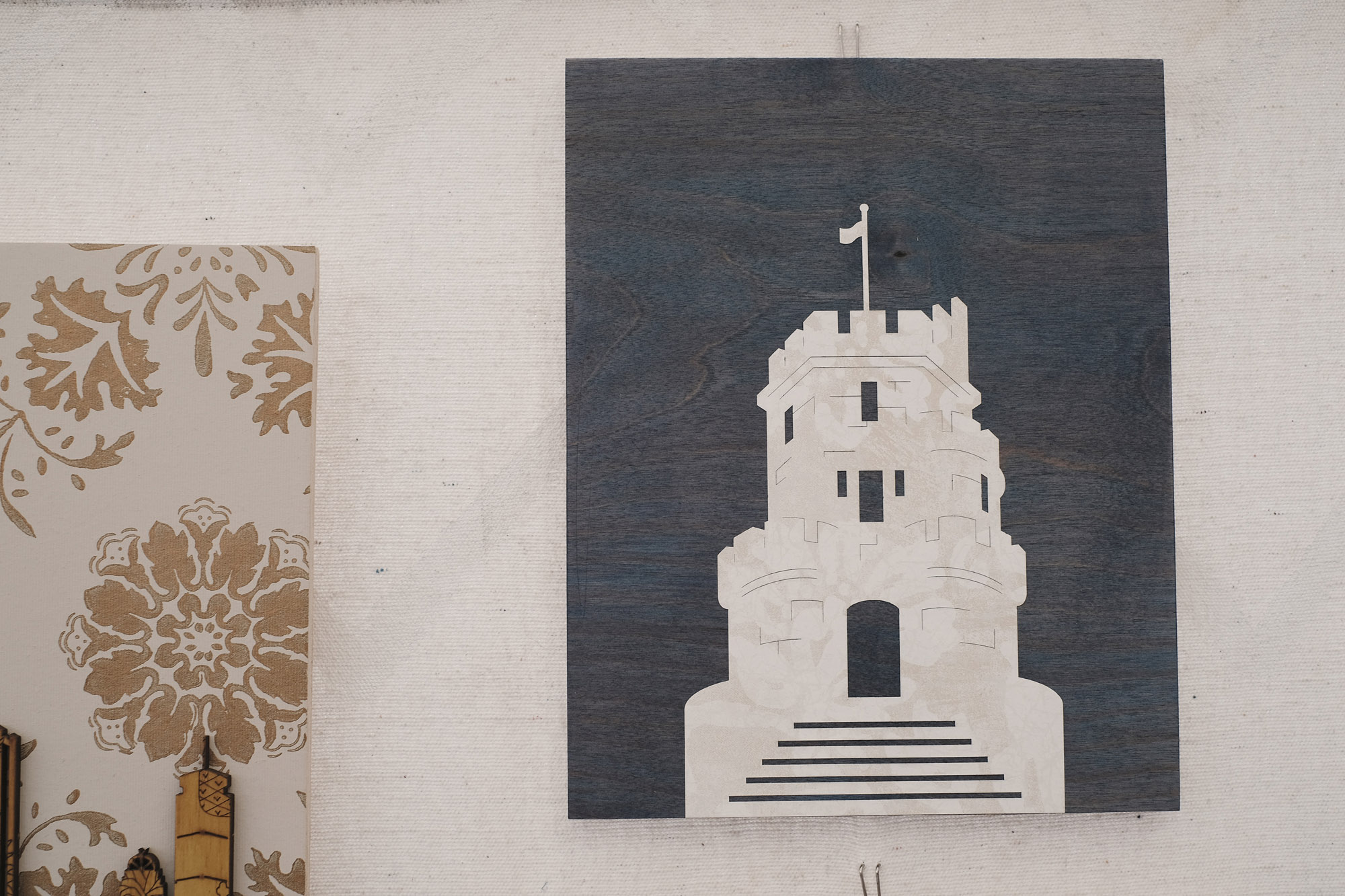 Somerville's icon: the castle at Prospect Hill by  9000 Things