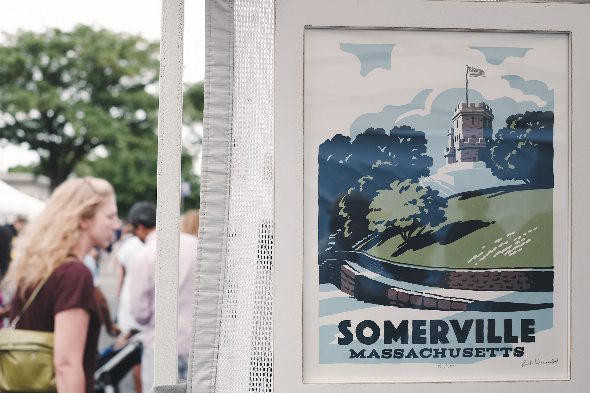 Our new Somerville design featuring Prospect Hill. It seems a world away from Davis Square.  Rusty and Ingrid