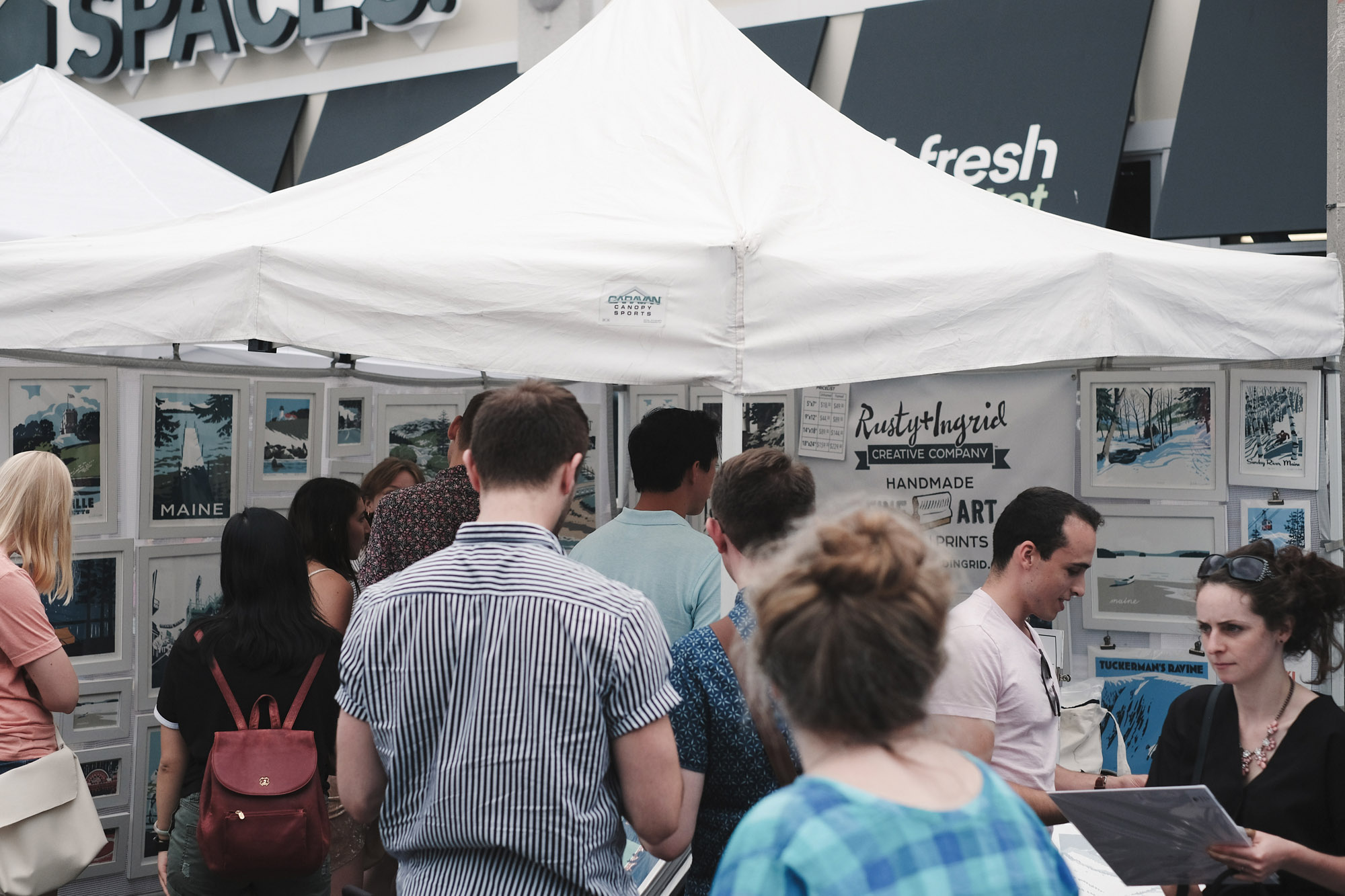 Our booth was slammed all day long.  Rusty and Ingrid Creative Company