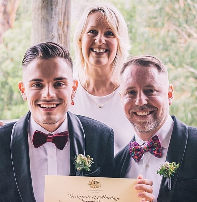 An honour and a privilege to marry these two! ♥️ Congratulations Corey and Jeremiah!! @yarravalleyestate 🌿#mmcelebrant #melbournecelebrant #yarravalleywedding #loveislove #twopeopleinlove #celebrantmelbourne #ahomeamongstthegumtrees #wedding #thatmoment #love