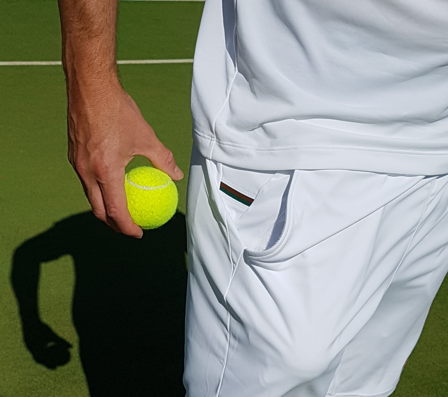 wimbledon white shorts