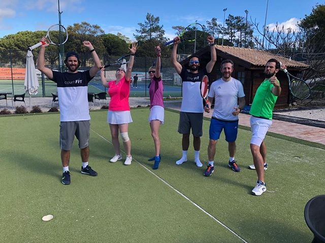 Spot the ball! @jelstons @indgejack #algarvetennisandfitnessclub #courtfitontour3 #tennis #babolatplay #wintersunshine