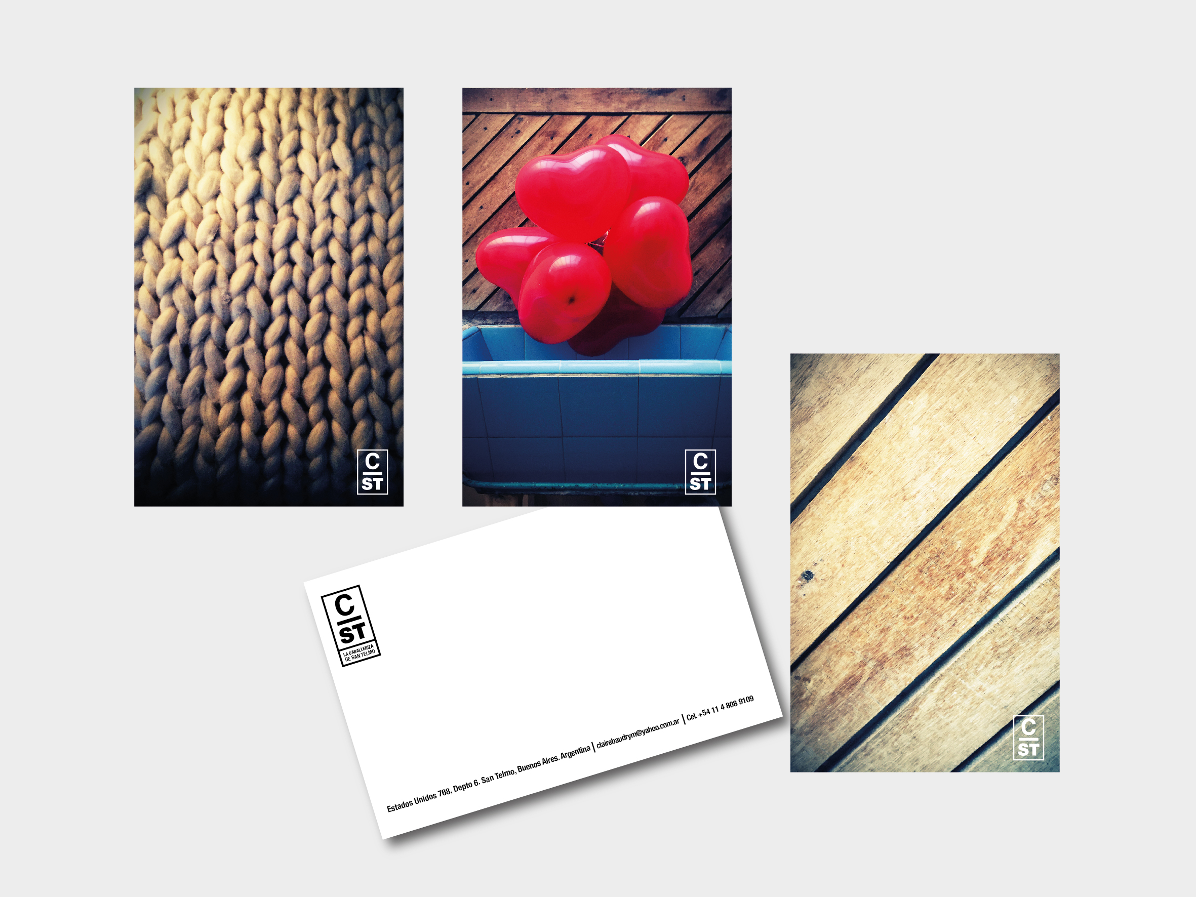 Postcards design.