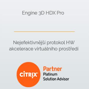 Engine 3D HDX Pro  Nejefektivnější protokol HW akcelerace virtuálního prostředí
