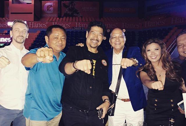 Celebrating with DILG Mr. Martin Diño, Elmer Kintanar and Jun Cue