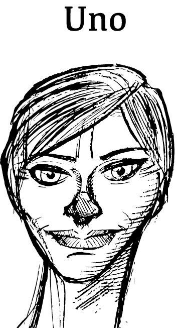 Butlern Uno - En lojal tjänarinna som dedikerat sitt liv åt mästra allt som definierar ett arbetsliv som butler, med mer eller mindre framgång. Hon lever för att välkomna gäster och öppna dörrar, men är tyvärr inte äggceptionellt händig i köket, till hennes Mästers stora förtvivlan. Uno kan i vanliga fall framstå som lite torr och noggrann, men när krisen kommer tvingas hon arbeta utanför sin comfort zone, vilket får hennes puls att slå fyrdubbelt så snabbt, och nä, det är ju inte så bra för hälsan. Brukar jogga varenda morgon för att leva längre. Samlar även på dörrhandtag och har en stor kollektion av exklusiva frackar till sin Ken-docka.