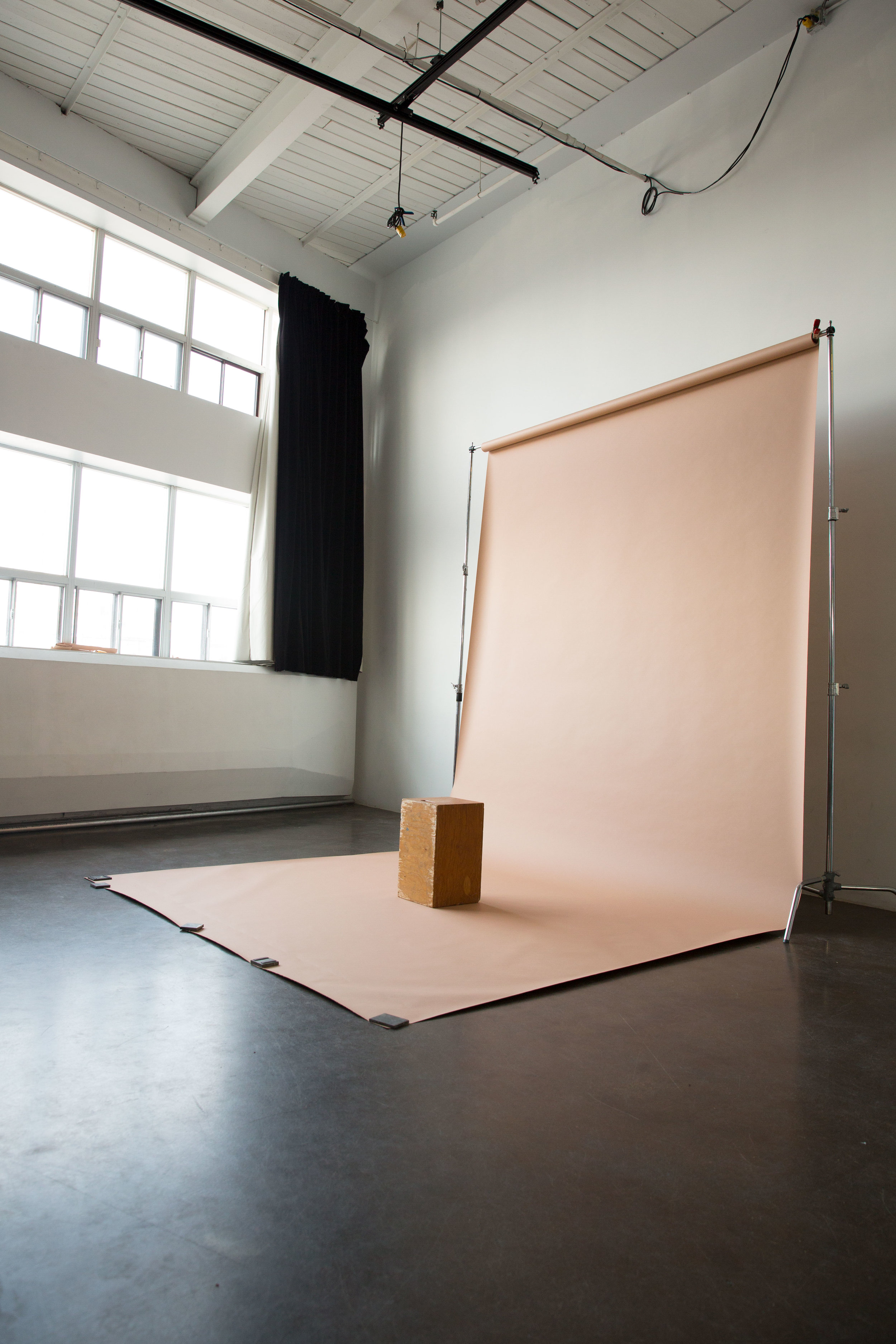 9 ft. wide$5 per ft. - We have a wide selection of 9ft coloured backdrops available. If a specific colour is required please inquire about available colours before your shoot. Backdrops can only be handled by Working Proof staff. The balance for used backdrop is due on the day of your shoot.