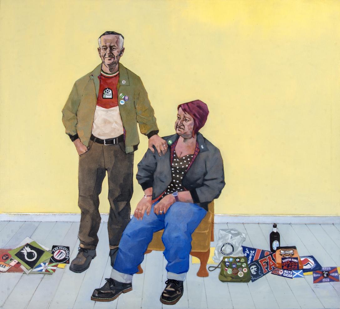 SPA 2017 Exhibition,Kontro Ogni Barriera  118 x 107 cm Oil on canvas  Not for sale