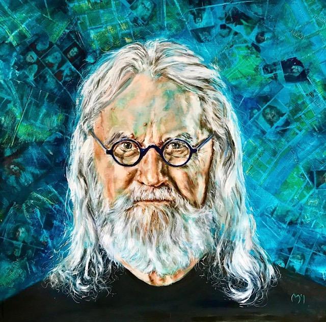 Sir Billy Connolly (oil painting) 69cm x 60 cm