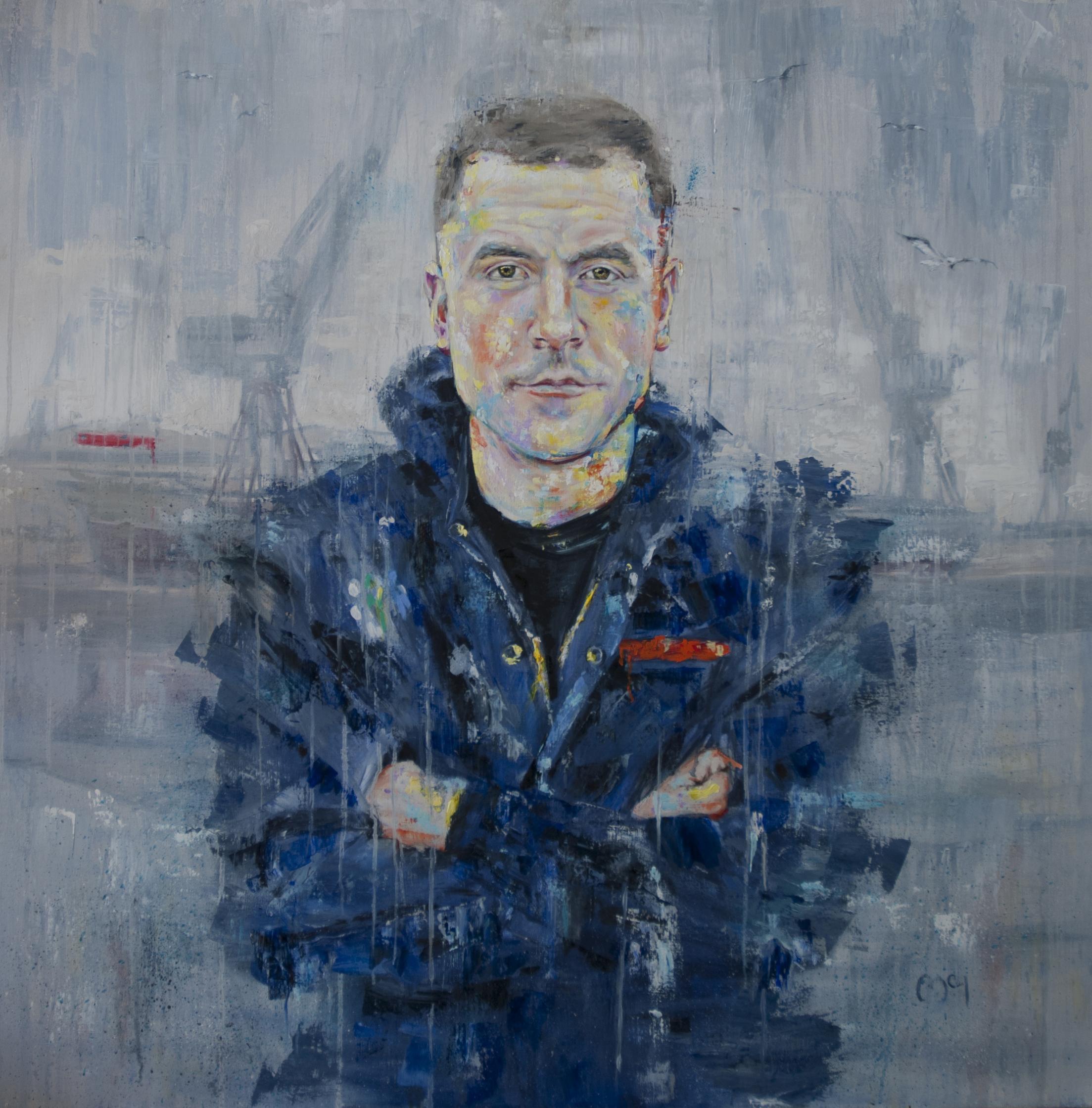 2017 SPA Exhibition  The Apprentice  120 x 120 cm  Oil  £950
