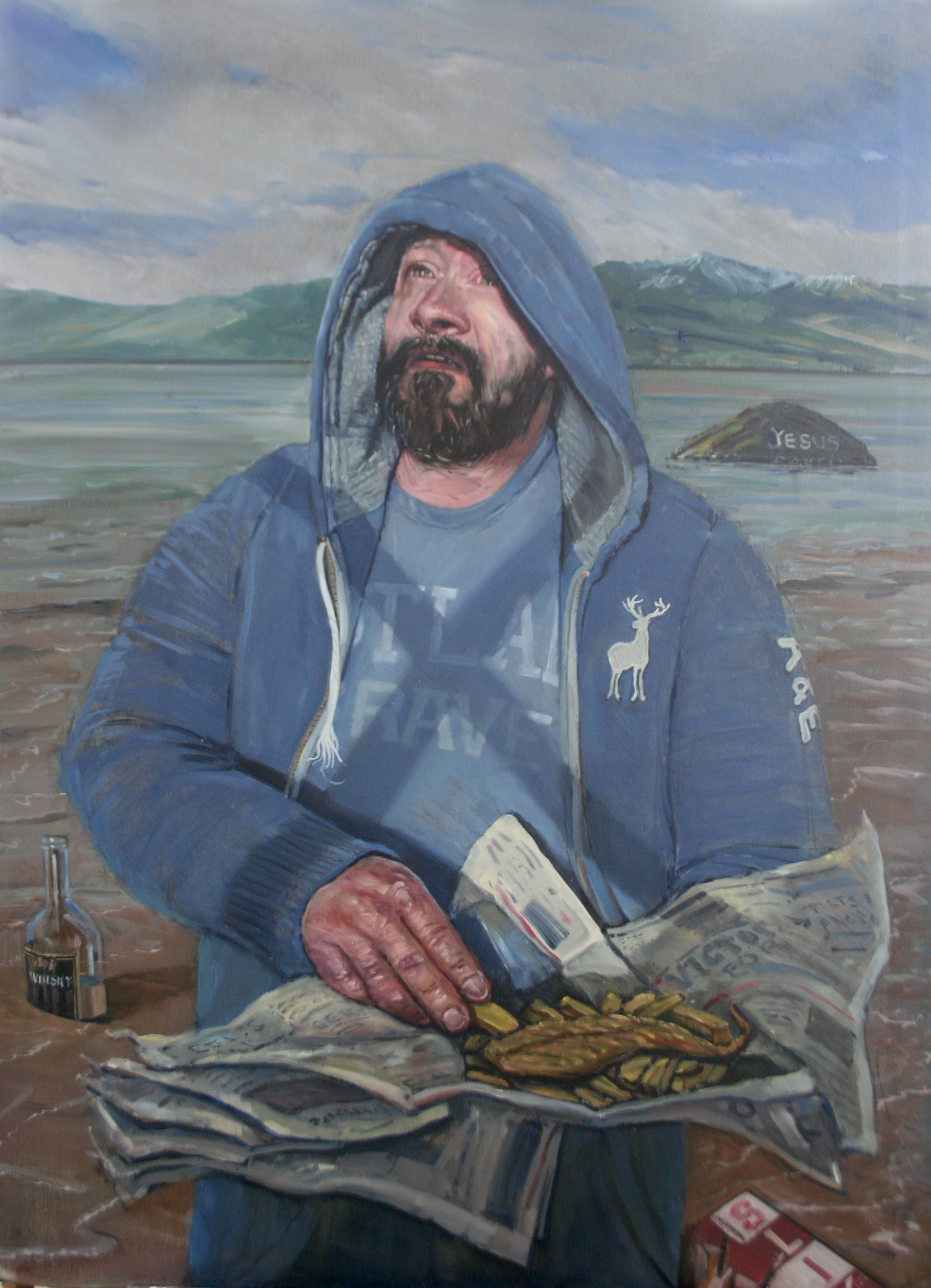SPA 2017 Exhibition Big Eddy as St. Andrew, 105 x 140 cm (framed),Oil on canvas board,£2,500