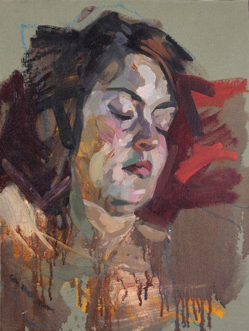 Topaz, 2015, Oil on panel, 50 x 40 cms