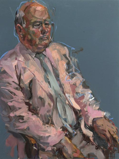 Julian Fellowes, 2014. Oil on panel, 80 x 60 cms.