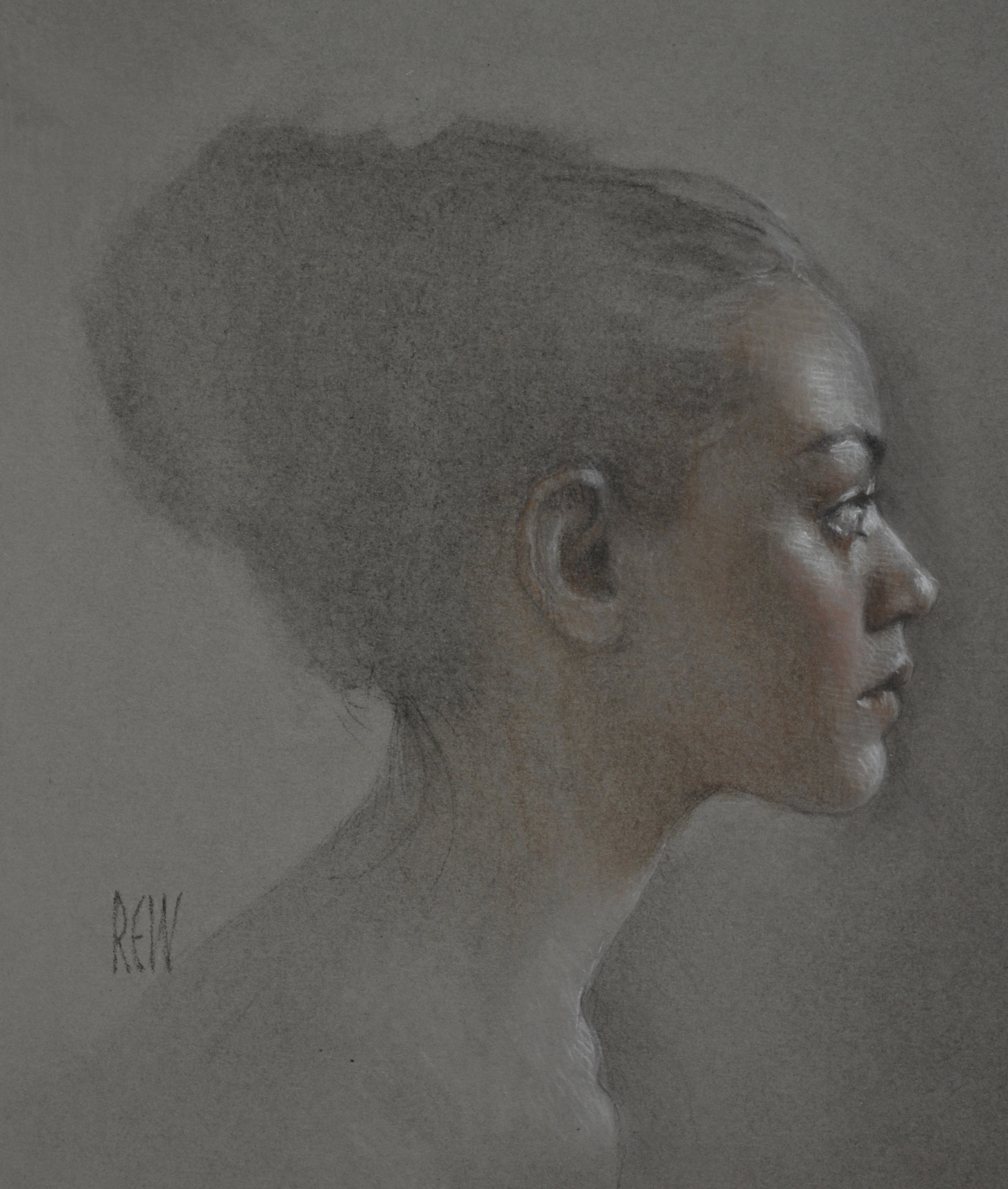 Study for Hokasai dreams   pastel, 25x20cm