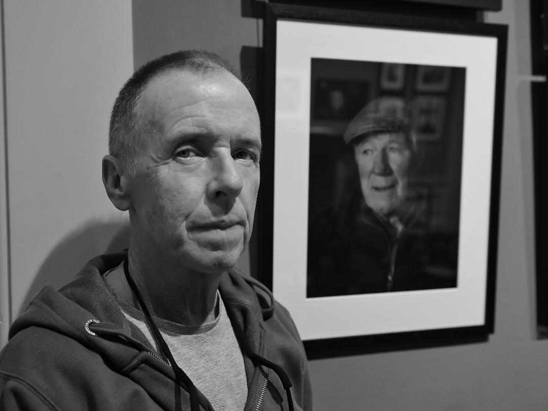 Dennis Conaghan with his SPA portrait