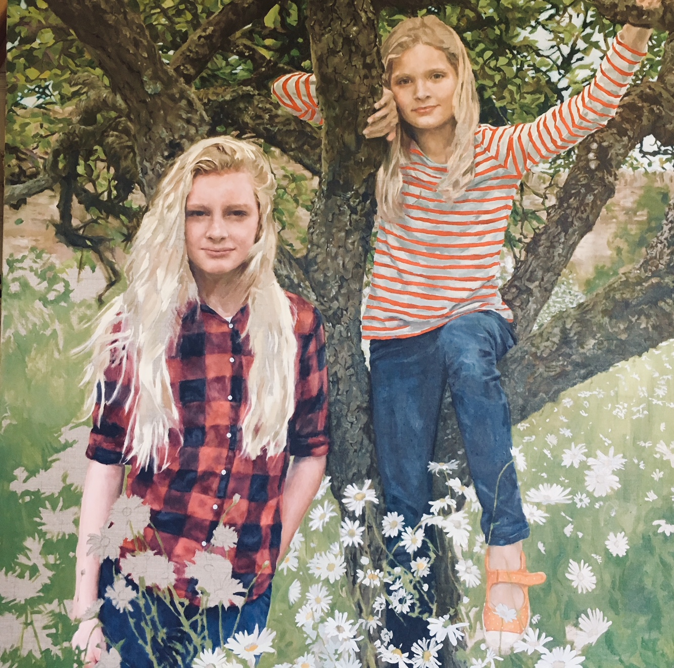SPA Exhibition 2018, Kate Bogie, The Apple Tree, 120 x 120 cm, Oil, Not for sale All rights reserved