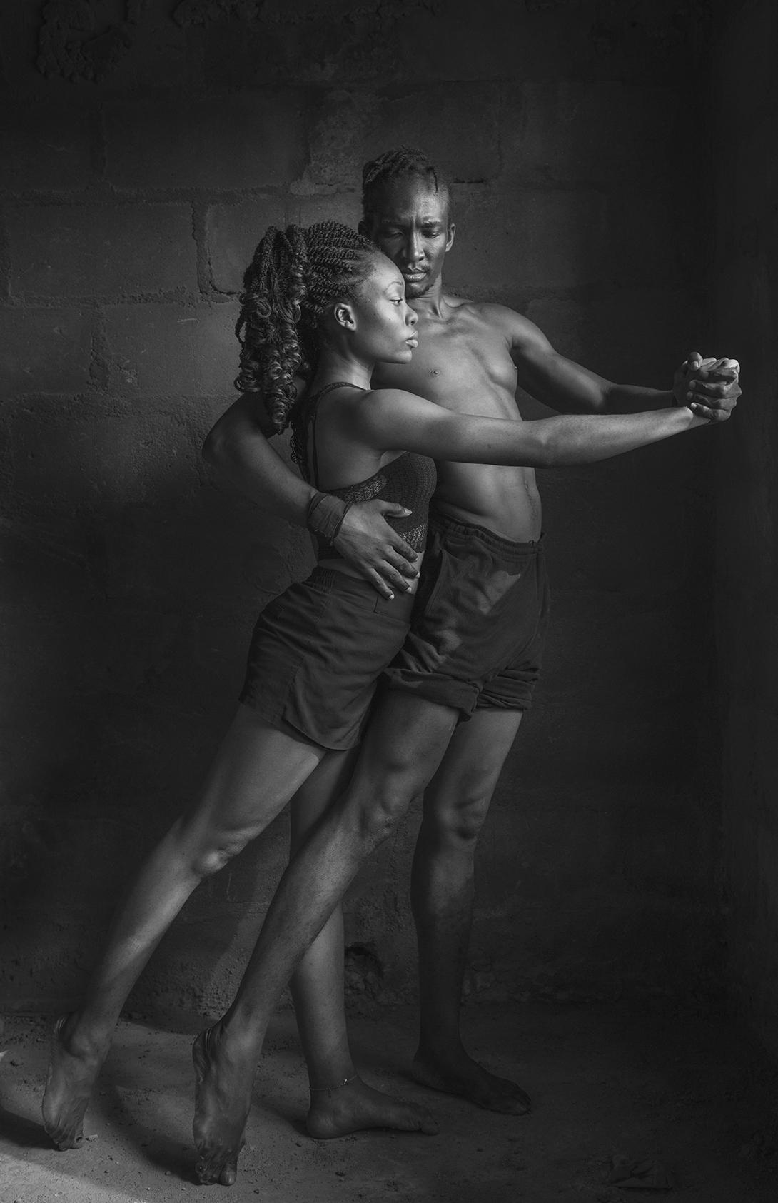 SPA 2018 Roderick Penn, Slim and Chika, 43 x 64 cm,  £350 framed, £150 unframed, All rights reserved