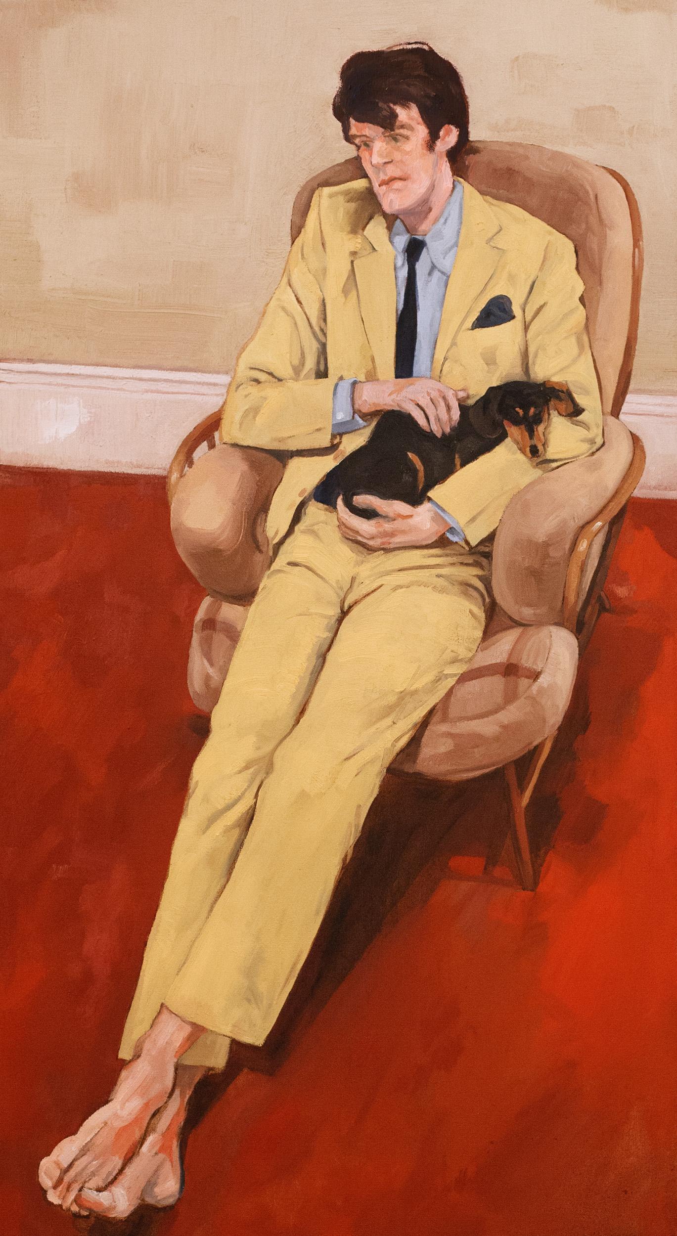 ROSS MCAULEY, Self-portrait with Cleo
