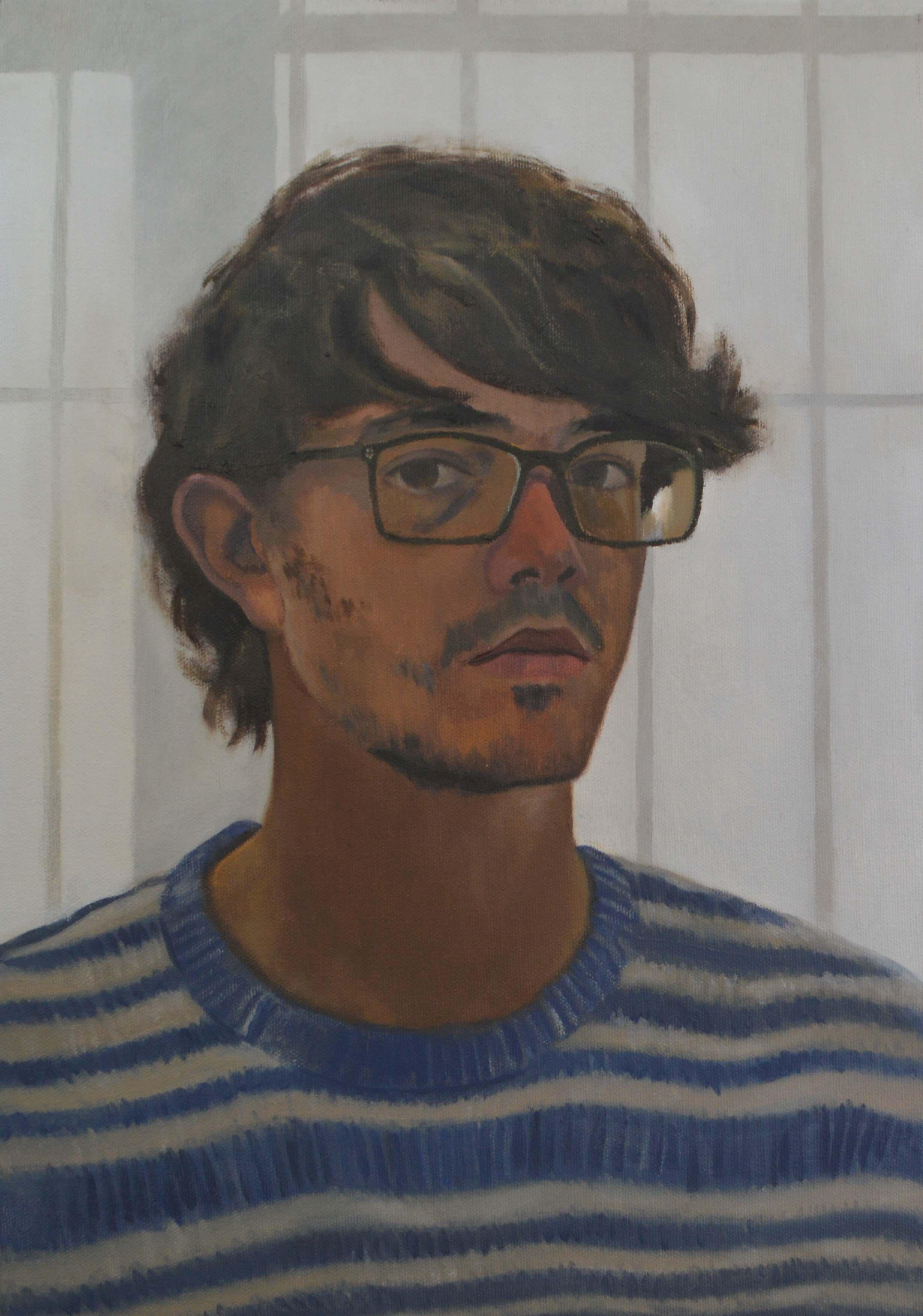 Self portrait in studio