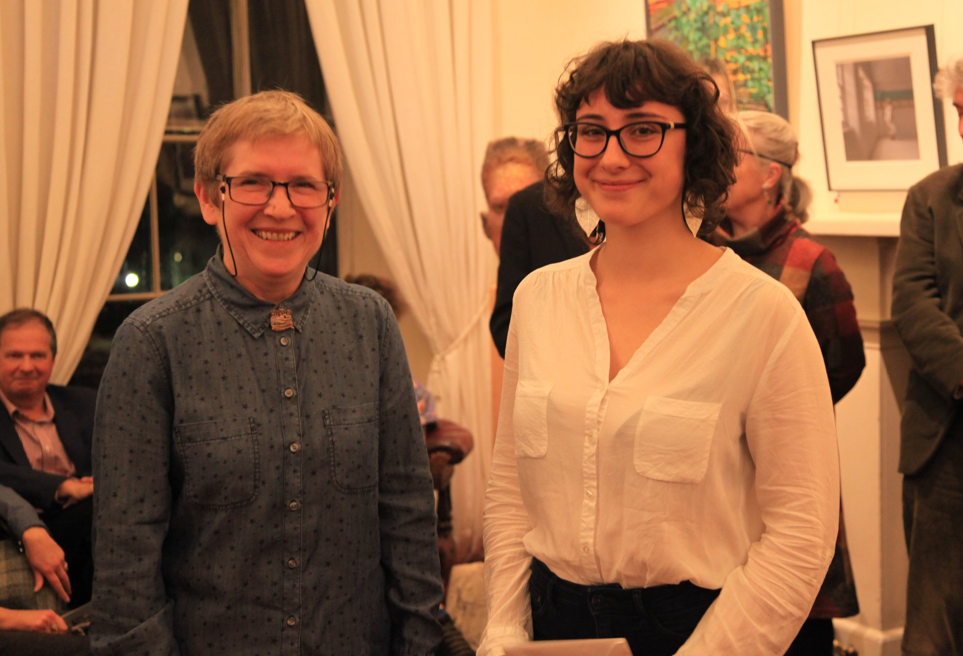 Winner of the SPA Young Fine Artist, Eve Woehrling (right) with Helen Wilson, winner of the 2017 SPA in Fine Art.