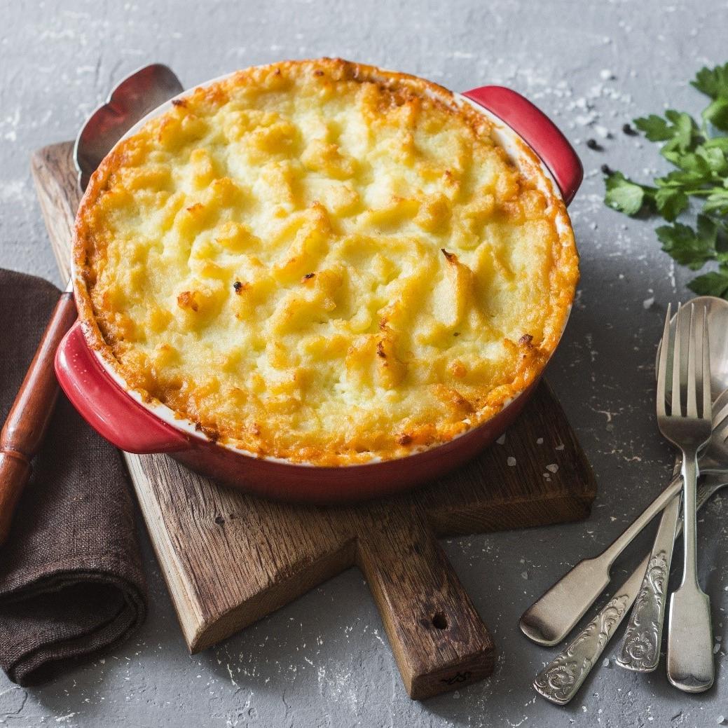 Carrot and Parsnip Shepherd's pie -
