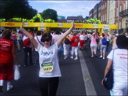 Mairead's Daughter Maureen, who completed the event in 2011 before she became ill.