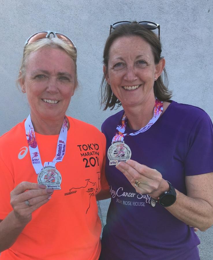 Ann and her Sister Caroline at the 2018 Vhi Women's Mini Marathon