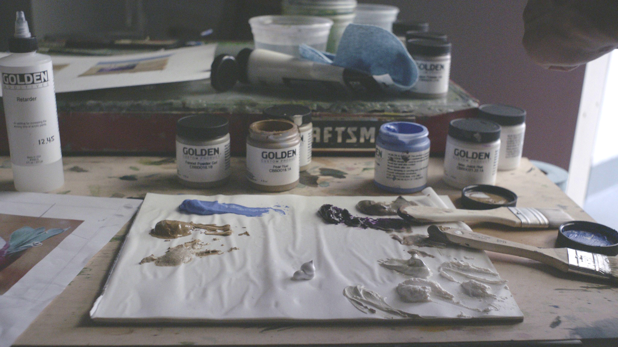 The paints were then given to 10 different artists from the New York Academy of Arts.