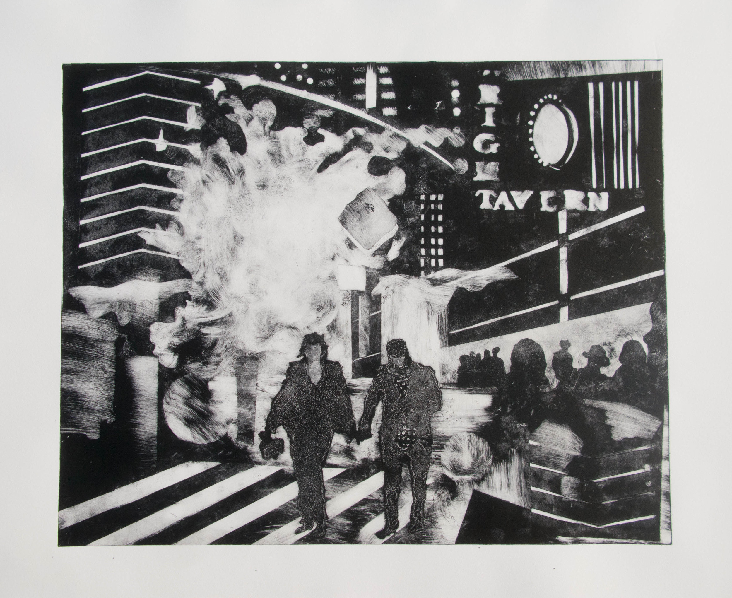 N.Y.  Timesquare (53 cm x 43 cm, sold)