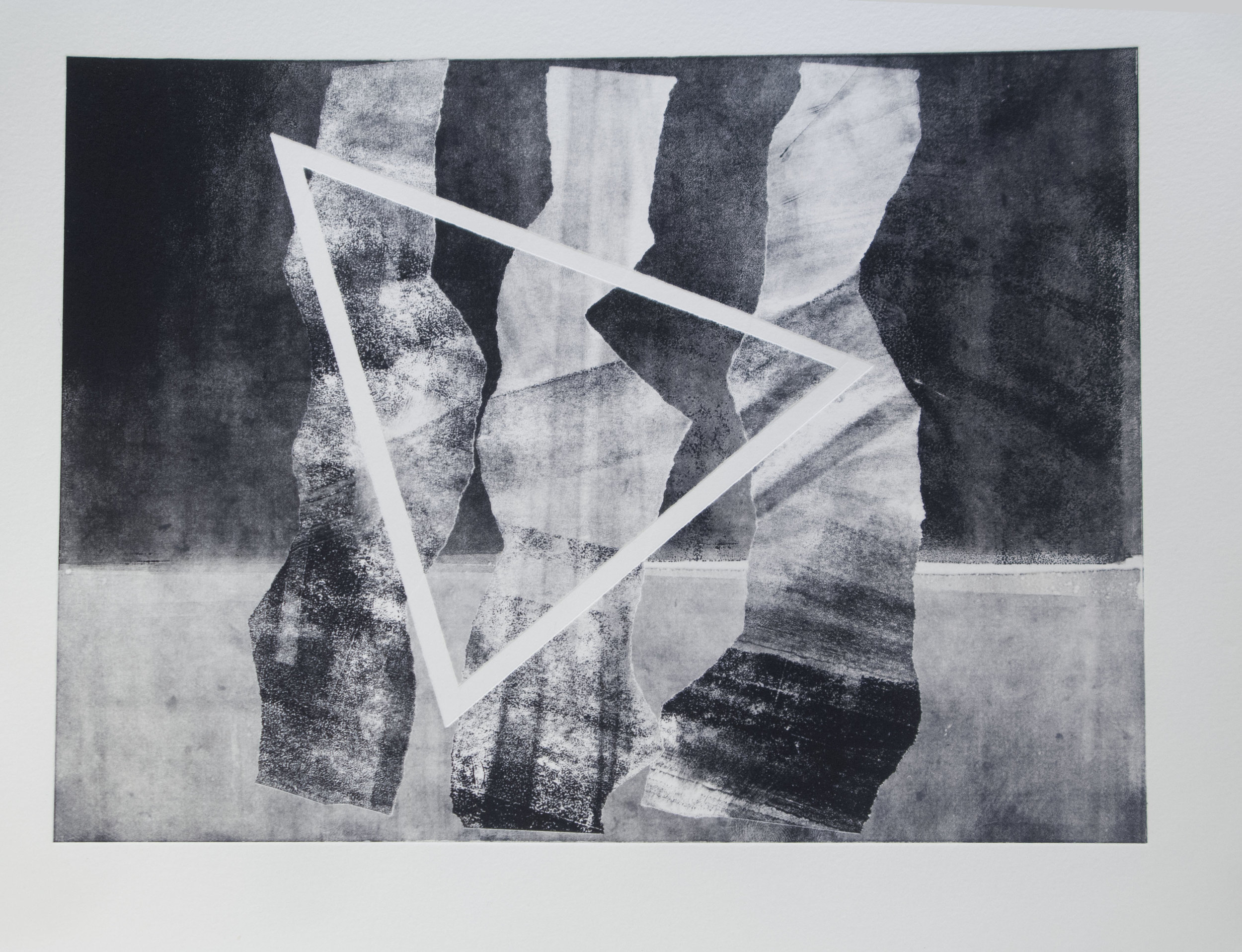 Forms on black 14 (32cm x 26 cm)