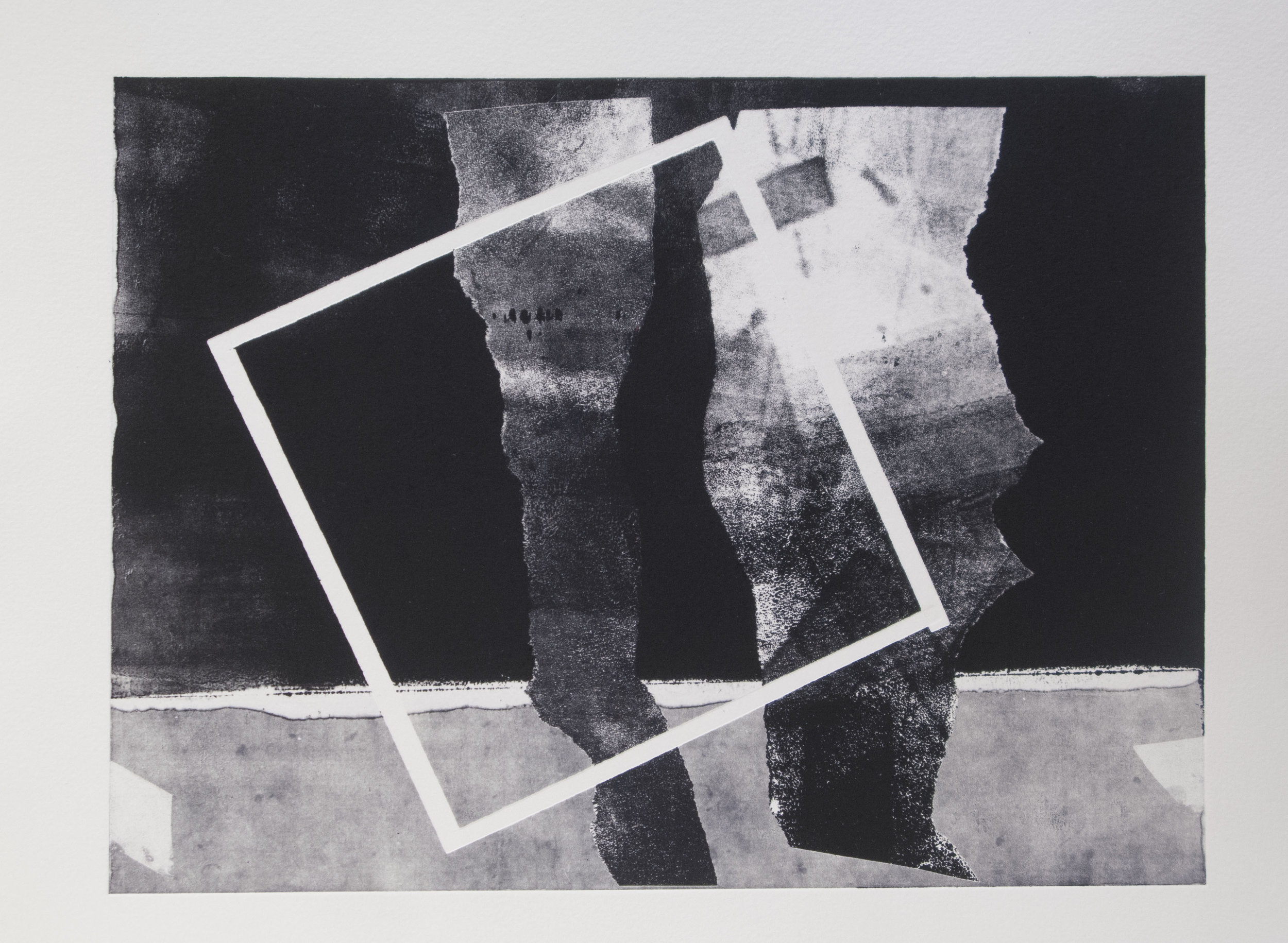 Forms on black 16 (32cm x 26 cm,sold)