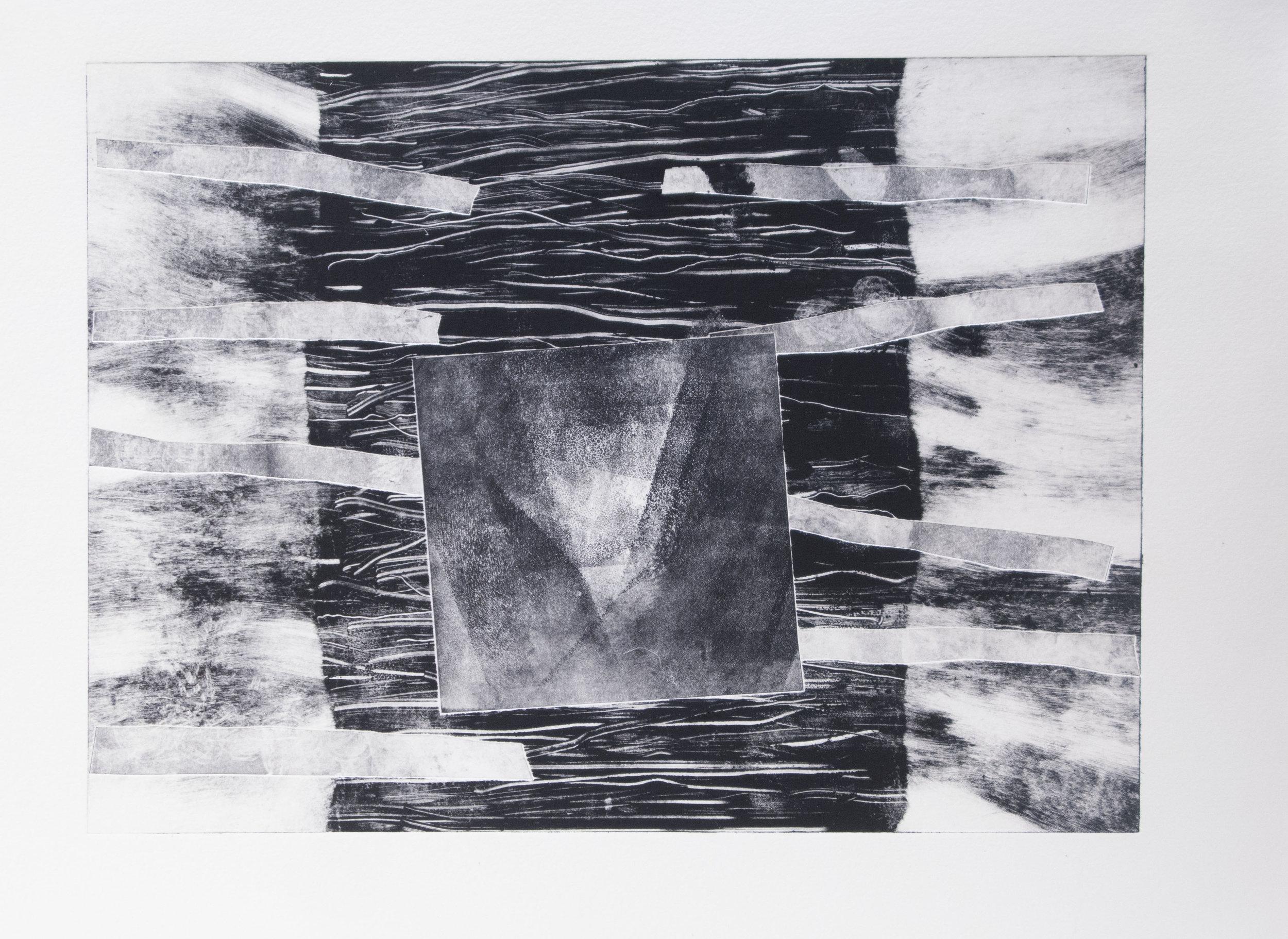 Forms on black 17 (32cm x 26 cm)