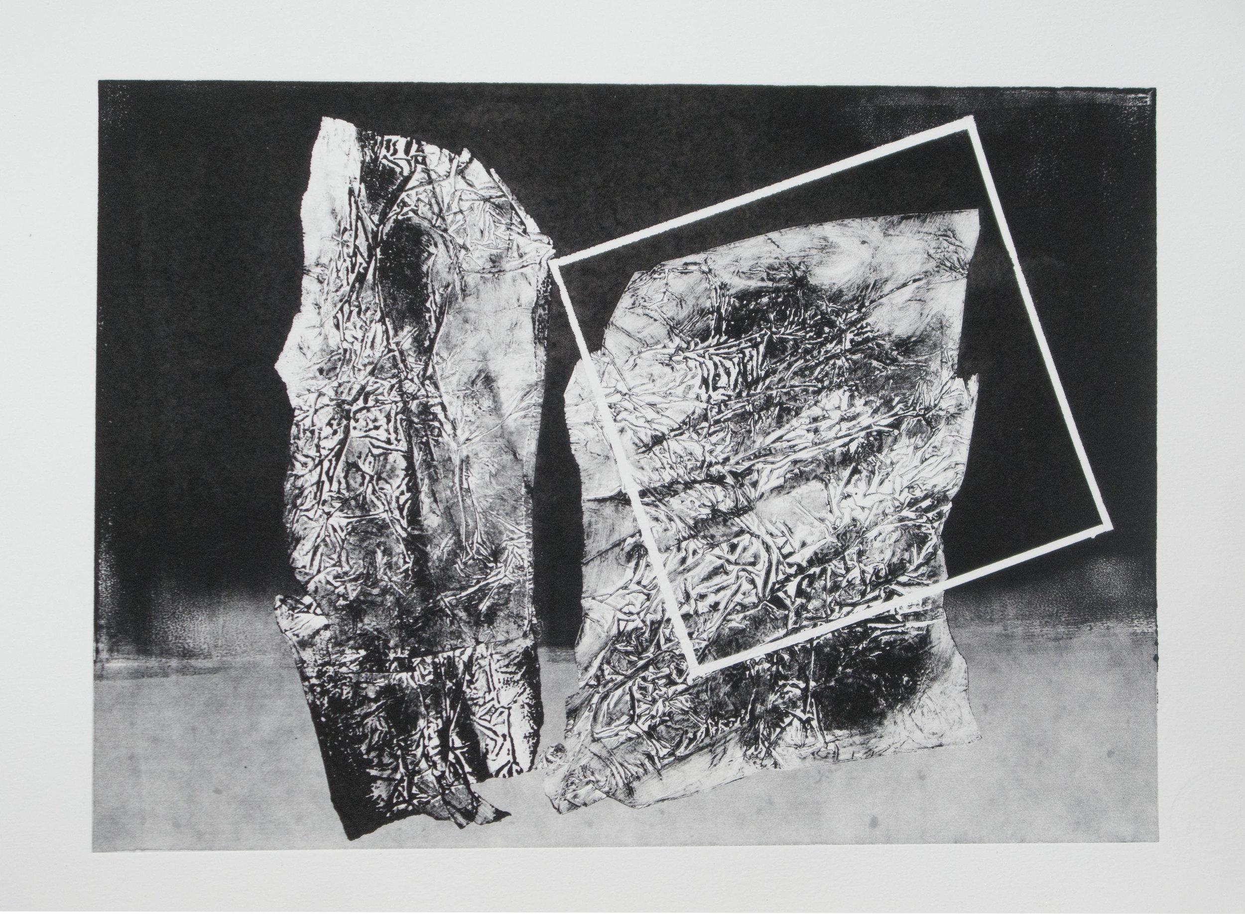 Forms on black 18 (32cm x 26 cm)