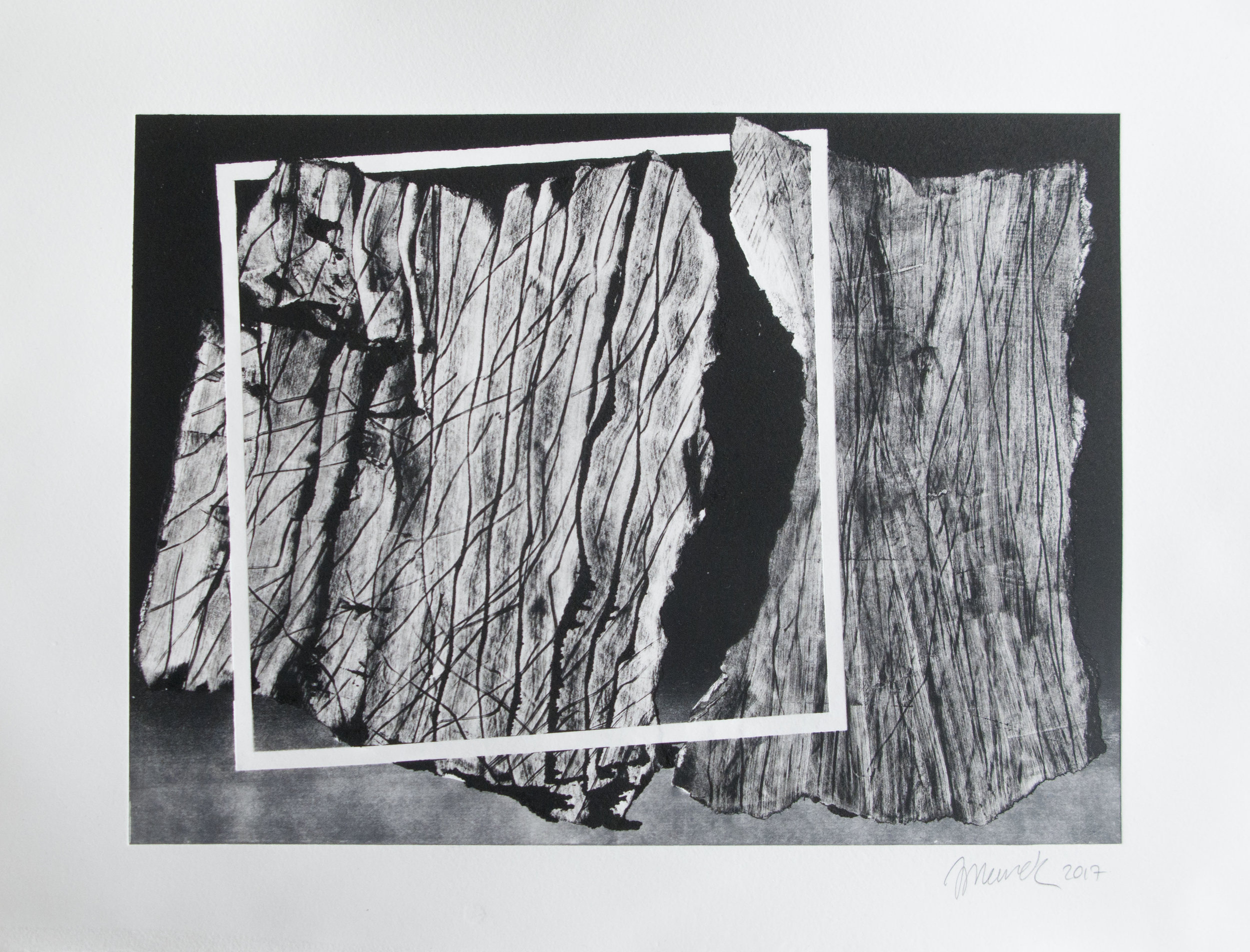 Forms on black 19 (32cm x 26 cm)