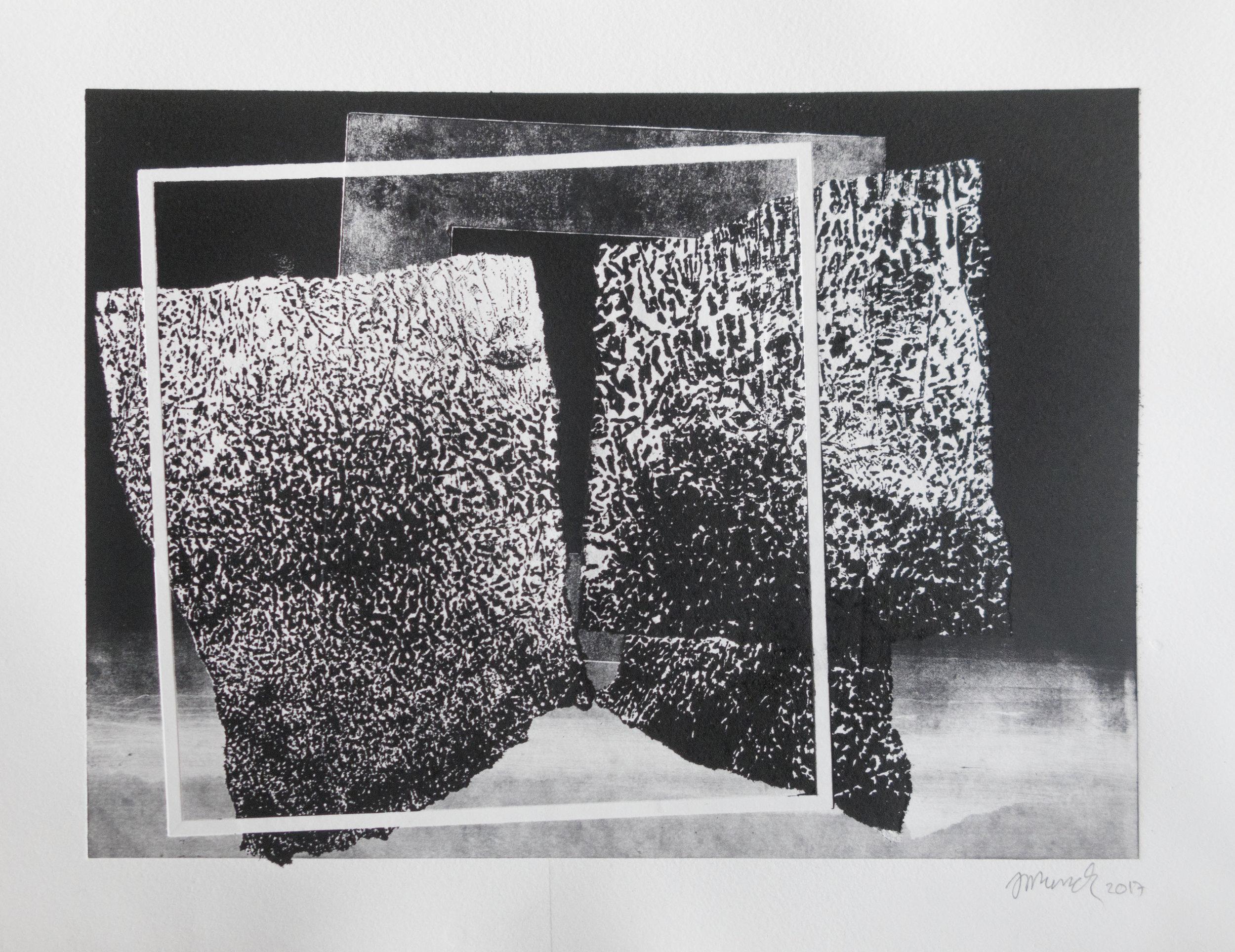 Forms on black 20 (32cm x 26 cm)