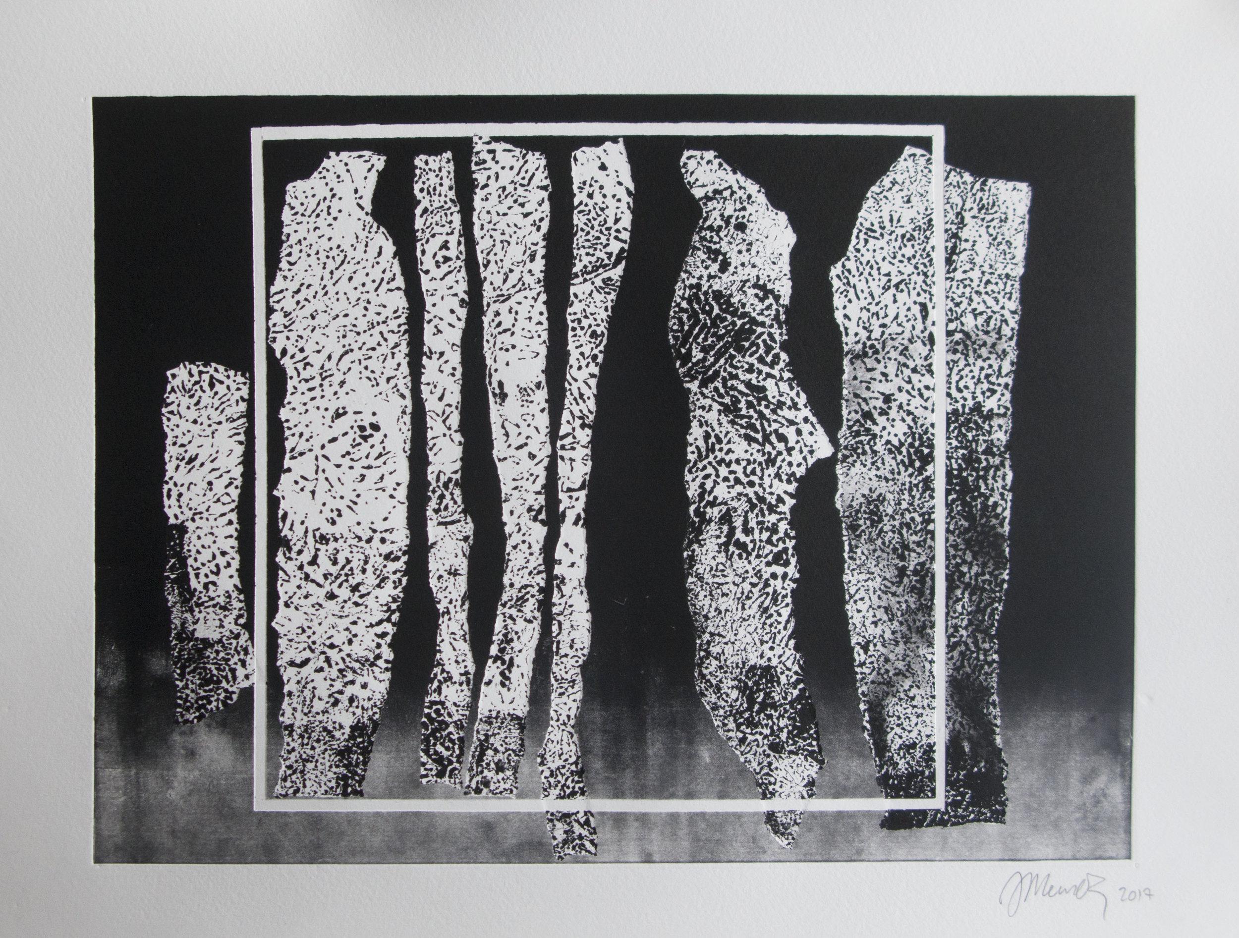 Forms on black 21 (32cm x 26 cm)